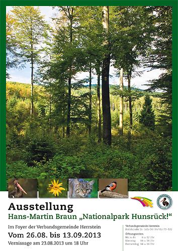 Einladungsplakat Ausstellung Nationalpark Hunsrueck H.M. Braun