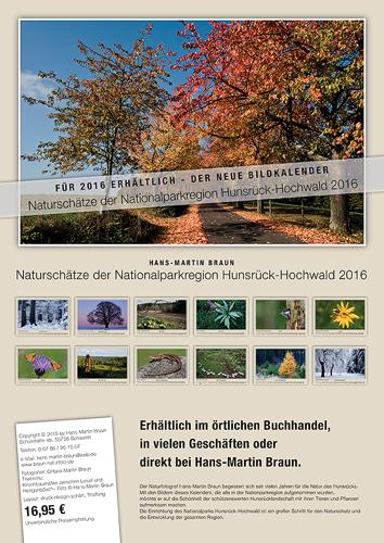 Kalender: Naturschätze der Nationalparkregion Hunsrück-Hochwald 2016