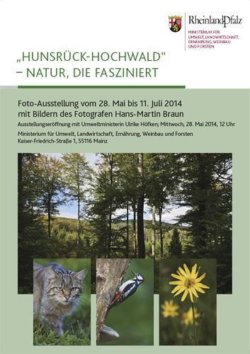 Poster zur Fotoausstellung im Umweltministerium von Hans-Martin Braun