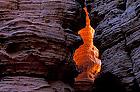 glühender Sandsteinfels